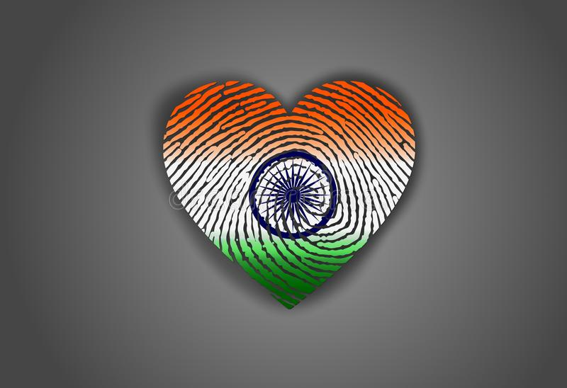 Indianin flaga na dniu niepodległości India ilustracja wektor