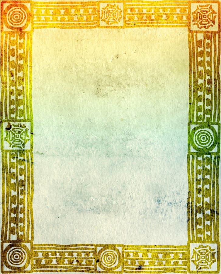 indianische traditionelle muster stock abbildung