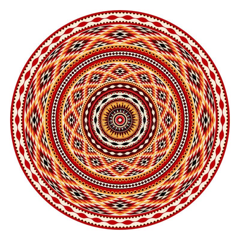 indianische verzierung vektor abbildung illustration von