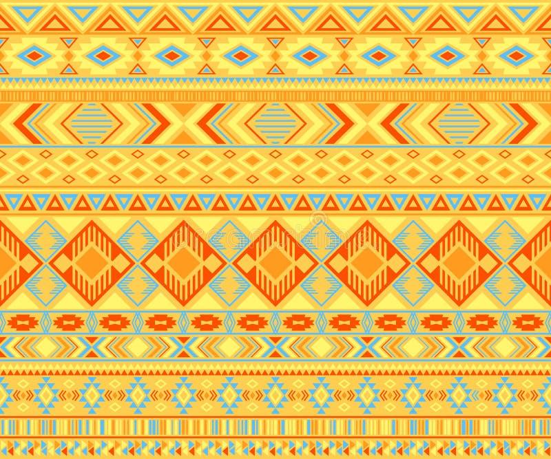 Indianisches Muster, ethnische Motive, geometrischer Vektorhintergrund stockbilder