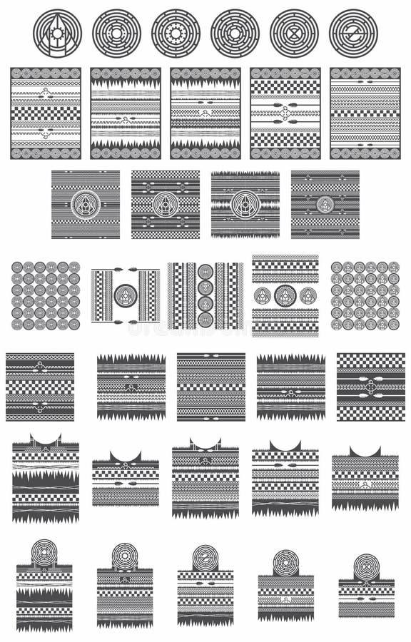 Indiankonstsamling royaltyfri illustrationer