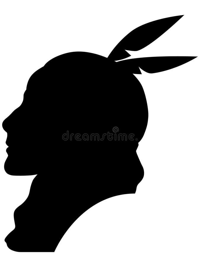 Indiankvinnavektor, Eps, logo, symbol, konturillustration vid crafteroks för olikt bruk Besöka min website på https stock illustrationer