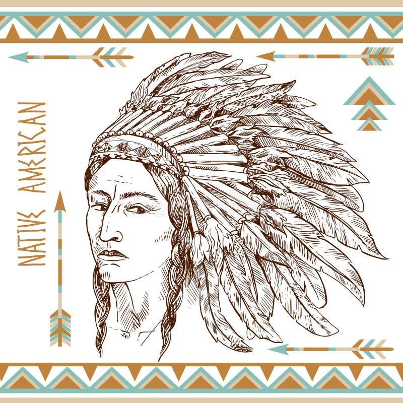 Indianman royaltyfri illustrationer