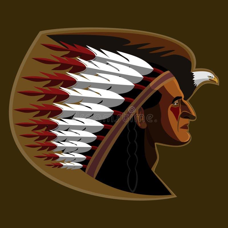Indiano americano illustrazione vettoriale