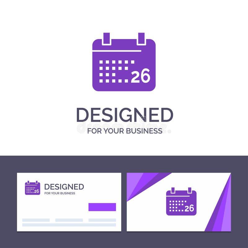 Indiano del modello creativo di logo e del biglietto da visita, giorno, giorno indiano della Repubblica, 26 Jan Vector Illustrati illustrazione vettoriale