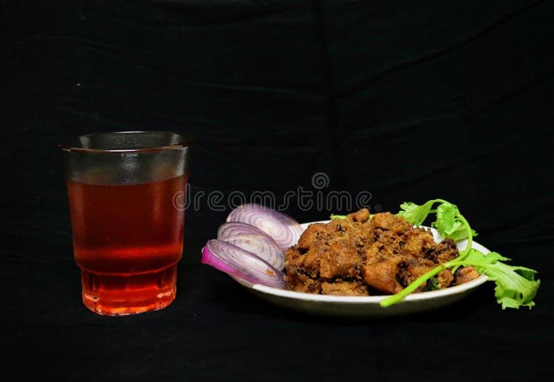 Indiano del Sud: filetto di manzo piccante con tè nero fotografie stock