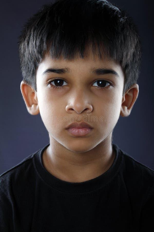 Indiano deprimido Little Boy fotografia de stock royalty free
