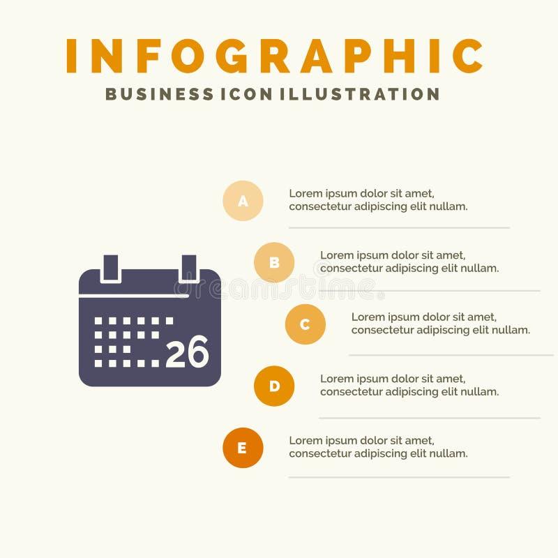 Indiano, giorno, giorno indiano della Repubblica, fondo di presentazione di 26 punti di Jan Solid Icon Infographics 5 royalty illustrazione gratis