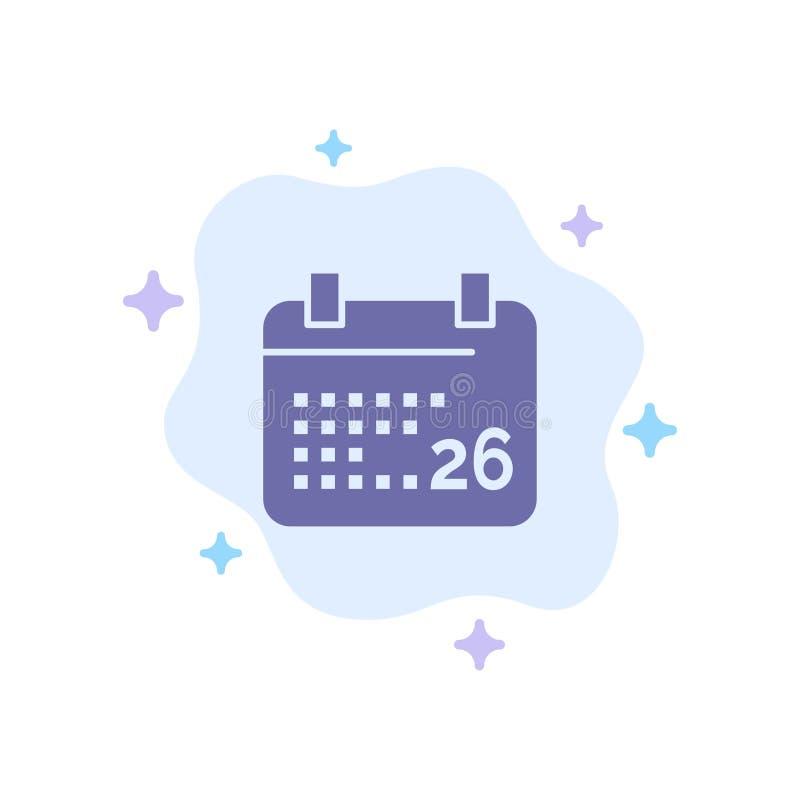 Indiano, giorno, giorno indiano della Repubblica, 26 Jan Blue Icon sul fondo astratto della nuvola royalty illustrazione gratis