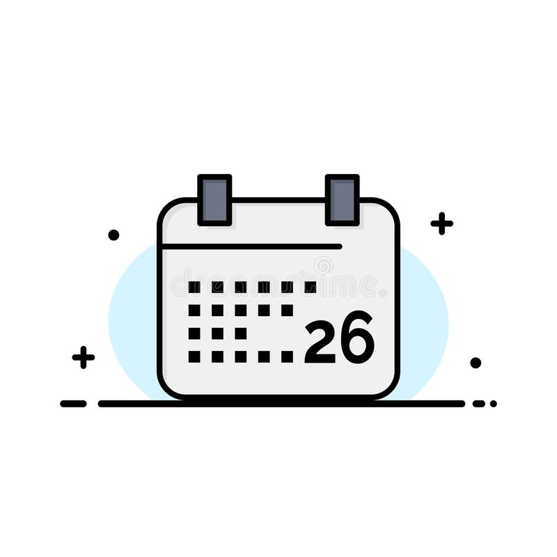 Indiano, giorno, giorno indiano della Repubblica, 26 Jan Business Logo Template colore piano illustrazione di stock