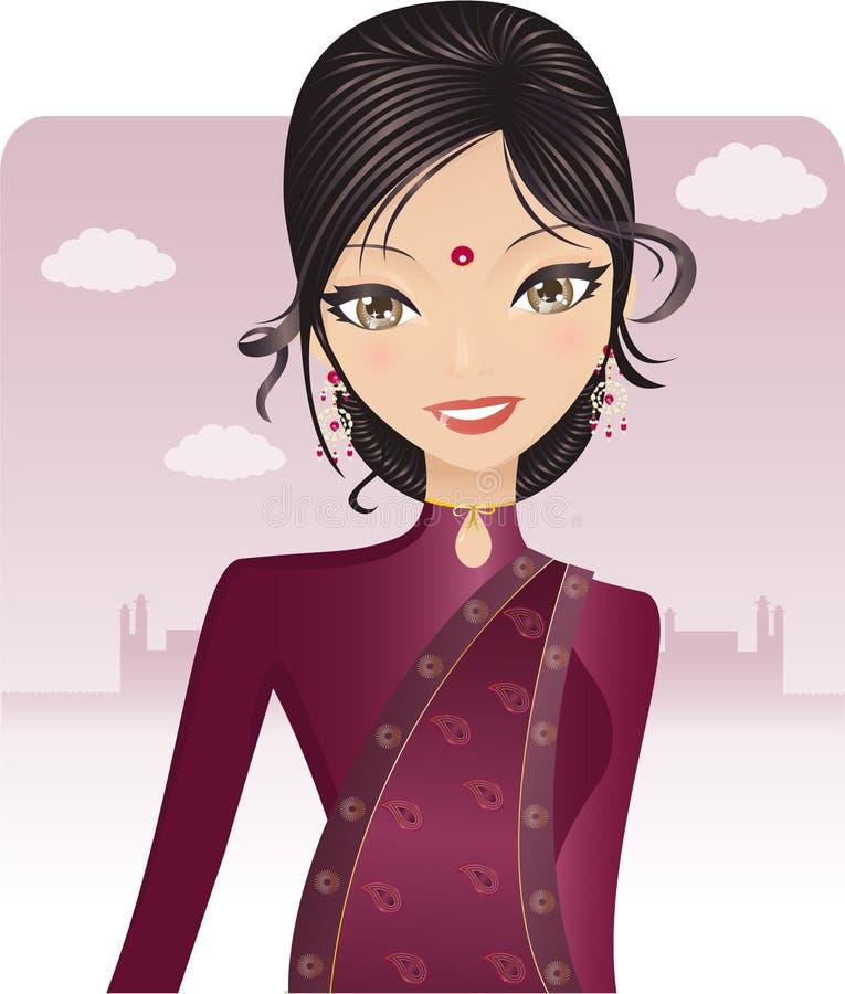 Indiano grazioso di Bollywood illustrazione vettoriale