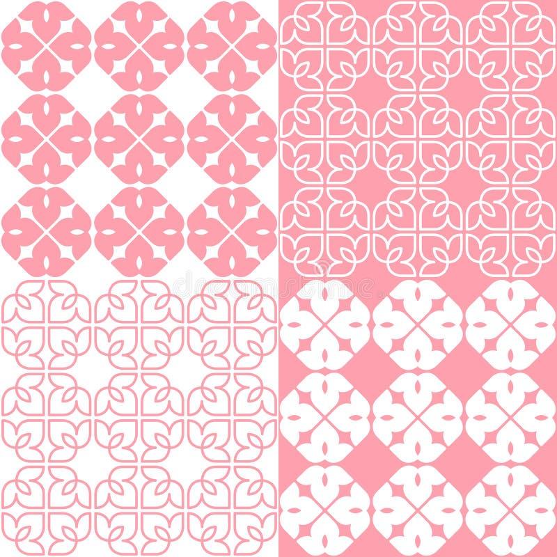 Indiano lineare Lotus Pattern illustrazione di stock