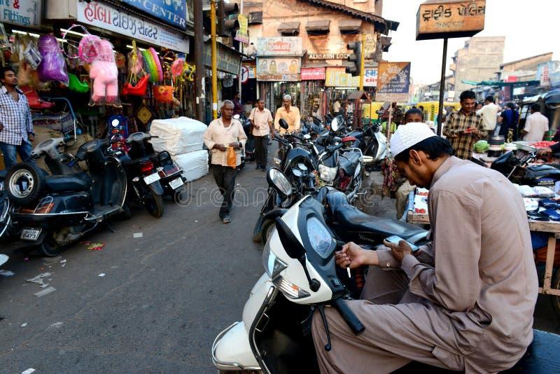 Indiano Market Place fotografia stock libera da diritti