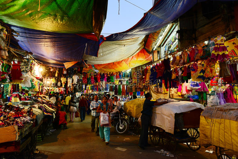 Indiano Market Place immagine stock libera da diritti