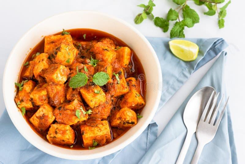 Indiano Paneer Masala, Tawa Paneer, Paneer Tikka Masala, prato indiano do caril do vegetariano, prato lateral, alimento indiano e fotografia de stock royalty free