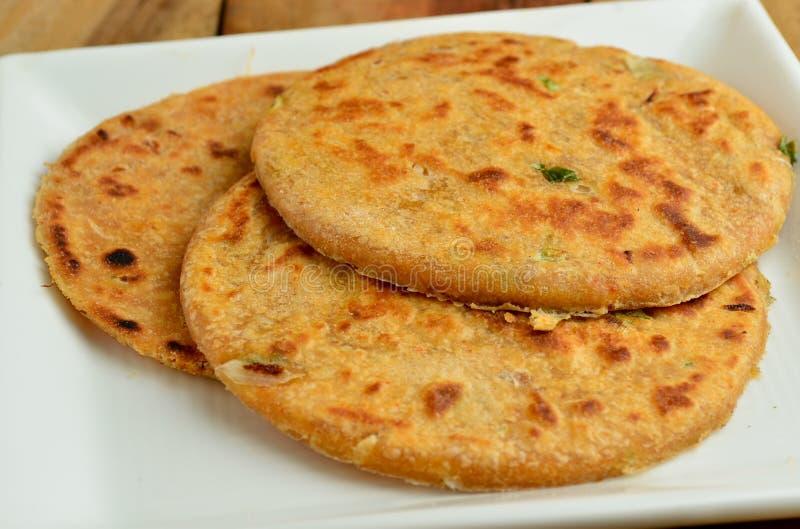 Indiano Parantha (pão indiano enchido) foto de stock