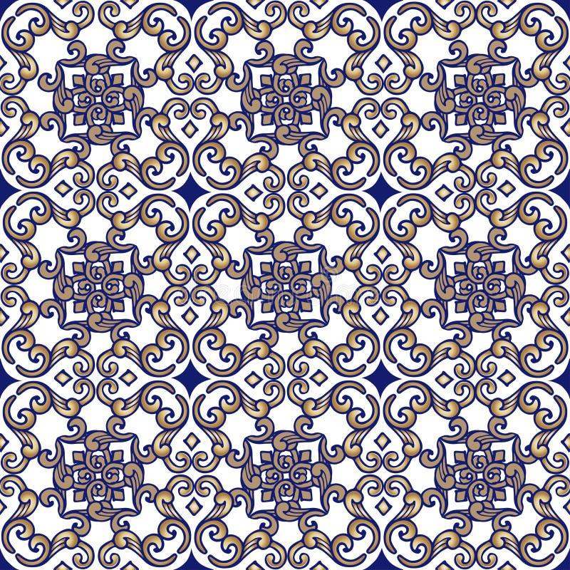 Indiano sem emenda elegante, ornamento oriental Contexto decorativo do ornamento para a tela, matéria têxtil, papel de envolvimen ilustração royalty free