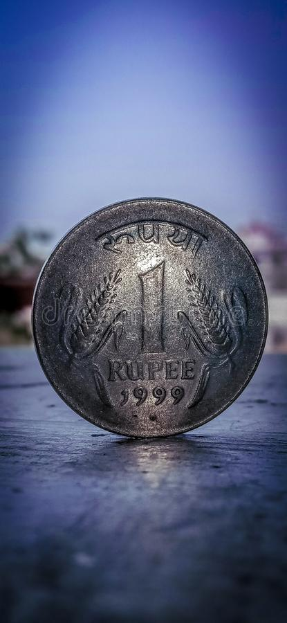 IndianOne rupees. One indianone rupees crunccy 1999 royalty free stock photography