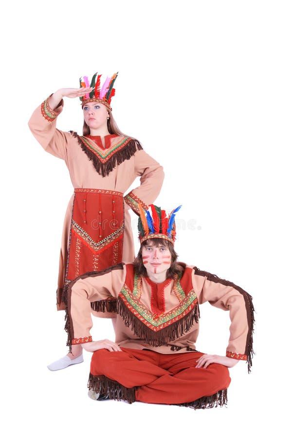 Indianos americanos imagens de stock