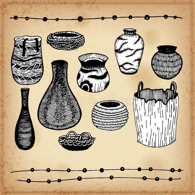 Indianos dos mercadorias de America do Norte ilustração royalty free