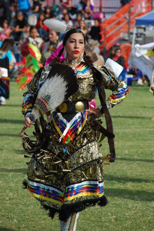 Indianpowen överraskar arkivfoto