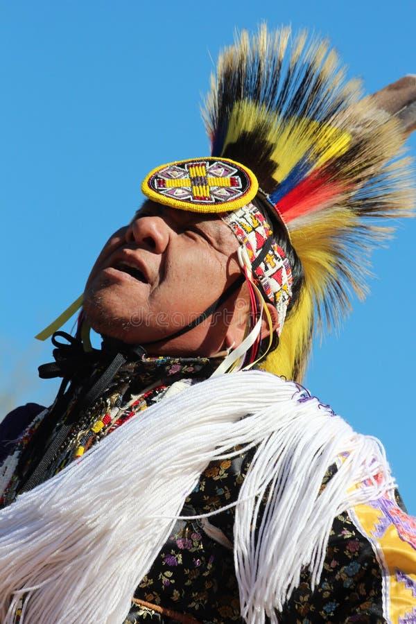 IndianPowwow fotografering för bildbyråer