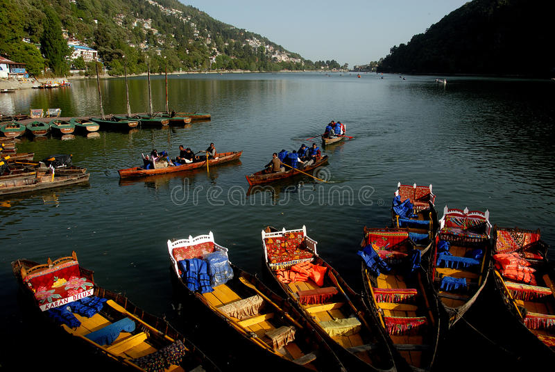 Indians der berühmte See stockbilder