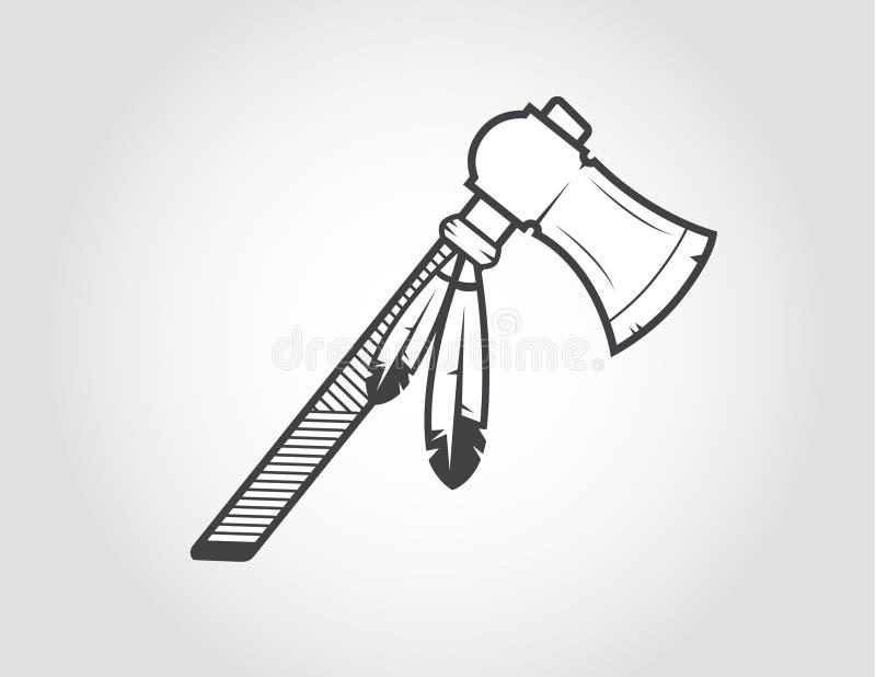 Indiantomahawk royaltyfri illustrationer