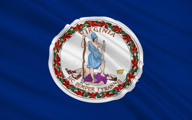 Indic a bandeira de Virgínia ilustração do vetor