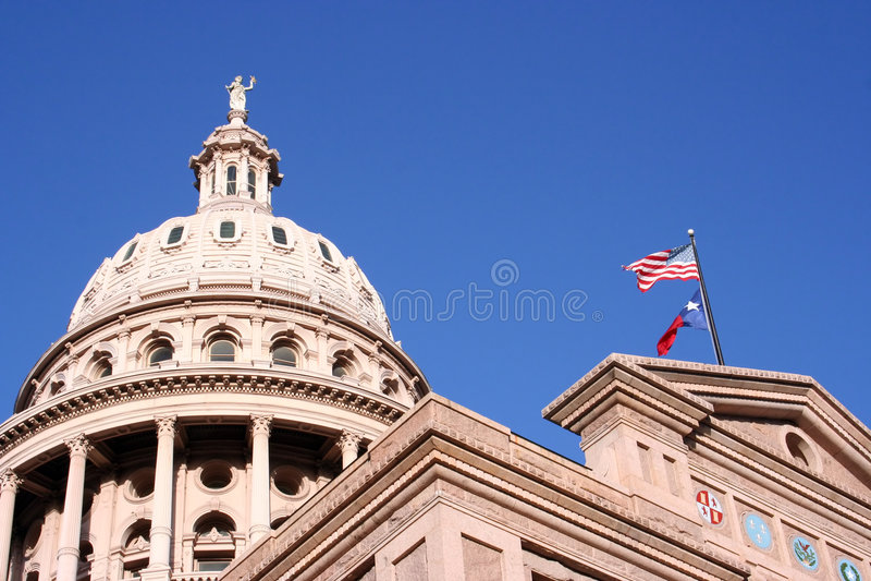 Indic o edifício do Capitólio em Austin da baixa, Texas fotos de stock