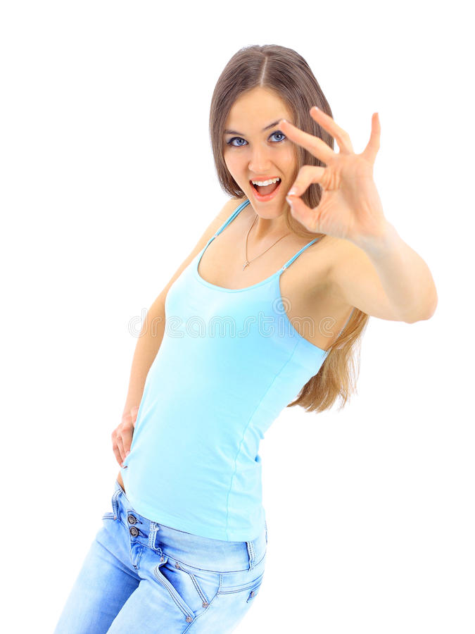 Indicação nova da mulher de negócio foto de stock