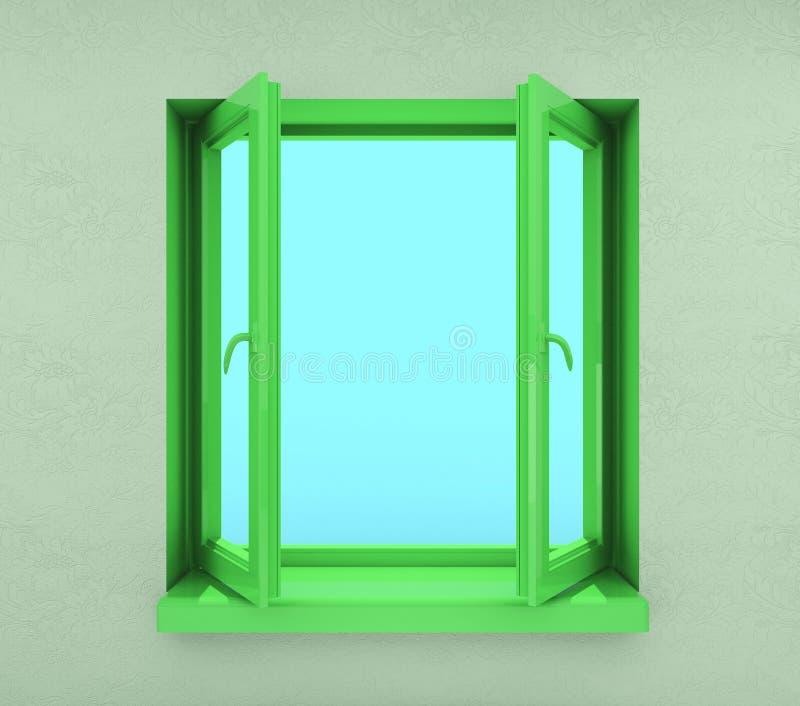 Indicador aberto verde ilustração stock