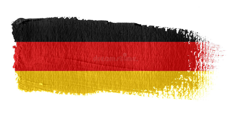 Indicador Alemania de la pincelada stock de ilustración