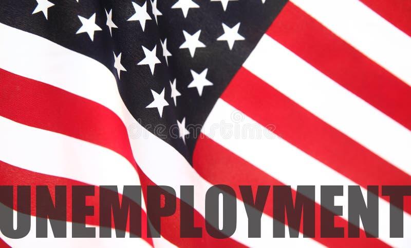 Indicador americano con palabra del desempleo imagen de archivo libre de regalías