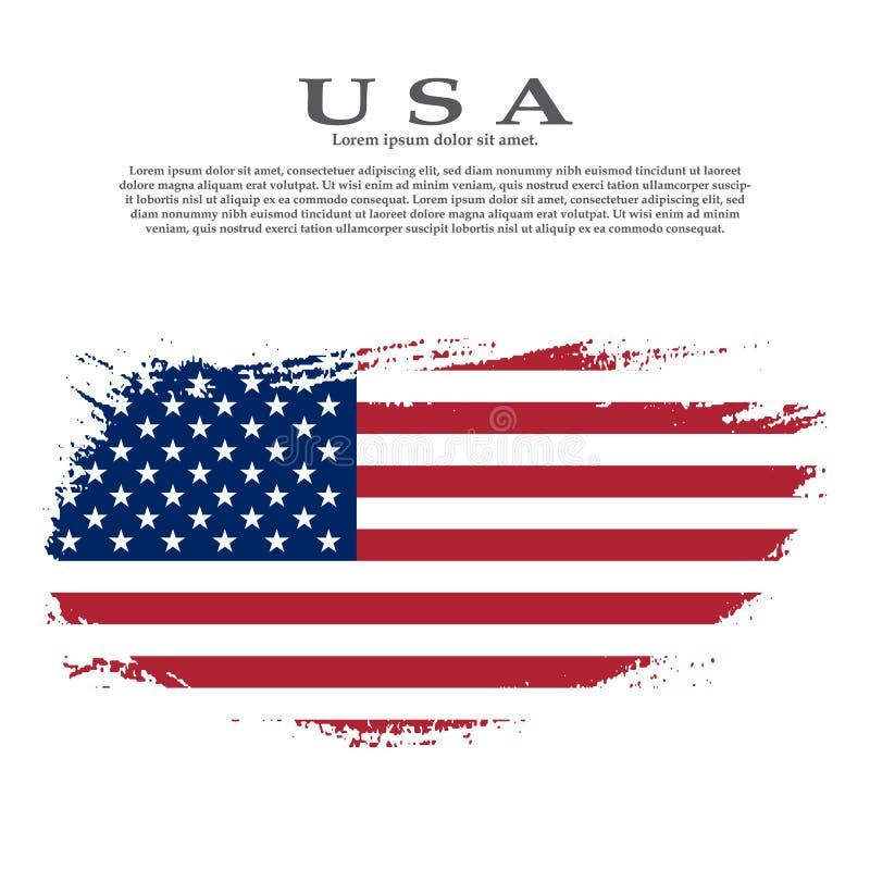 Indicador americano de Grunge Bandera del vector de los E.E.U.U. libre illustration