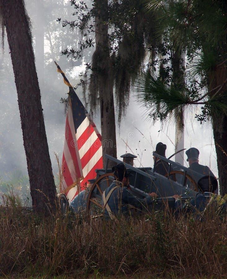Indicador americano en batalla foto de archivo libre de regalías