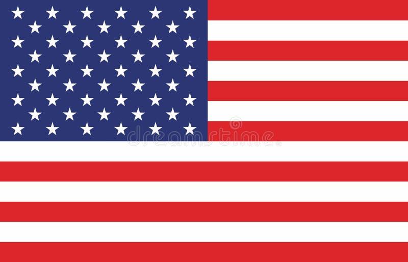 Indicador americano Imagen del vector de la bandera americana Fondo de la bandera americana stock de ilustración