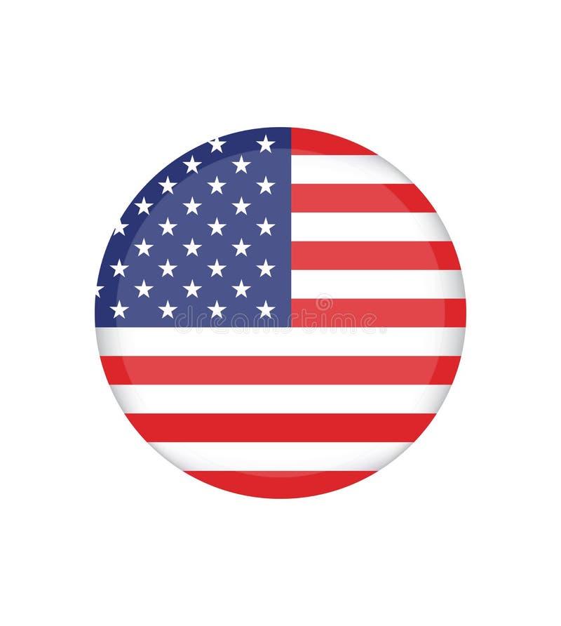 Indicador americano Imagen del vector de la bandera americana Fondo de la bandera americana ilustración del vector