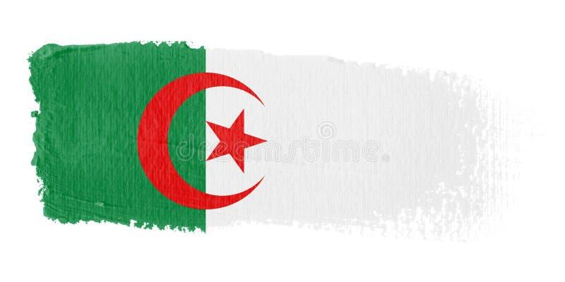 Indicador Argelia de la pincelada stock de ilustración