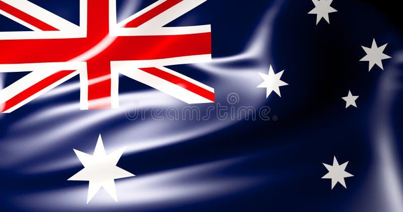 Indicador australiano Ejemplo australiano de la bandera que agita 3d calidad 4K libre illustration