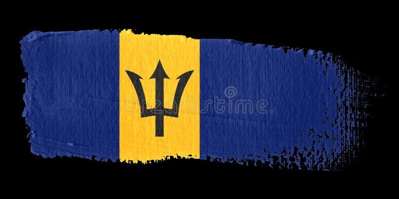 Indicador Barbados de la pincelada libre illustration
