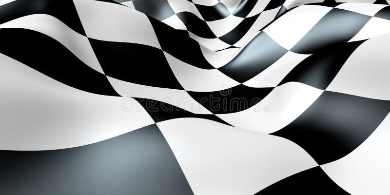 Indicador Checkered ilustración del vector