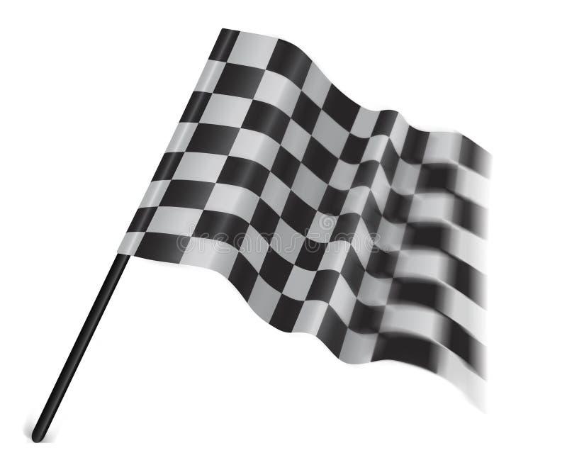 Indicador Checkered o marcado con cuadros en un fondo blanco stock de ilustración
