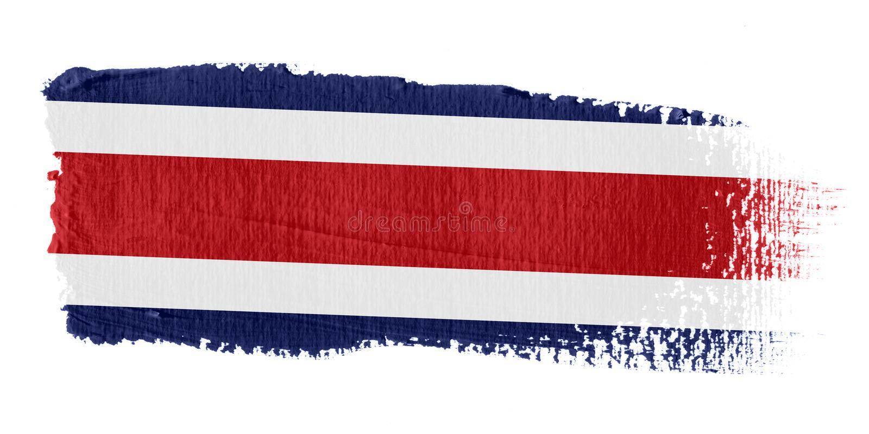 Indicador Costa Rica de la pincelada stock de ilustración