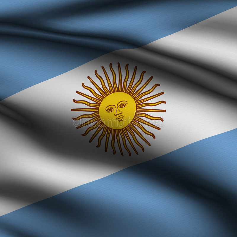 Indicador cuadrado rendido de Argentina ilustración del vector