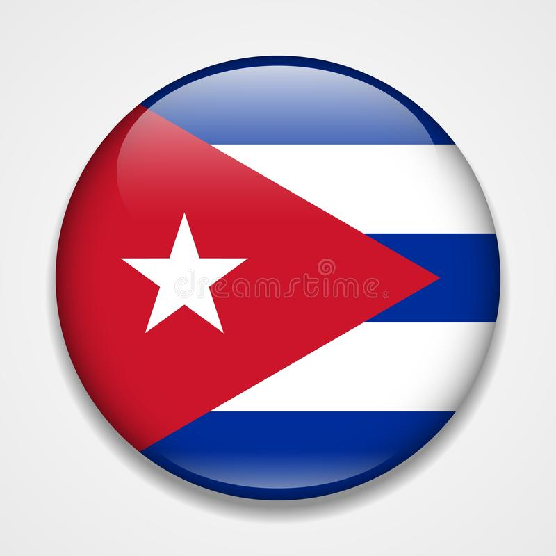 Indicador cubano Insignia brillante redonda libre illustration
