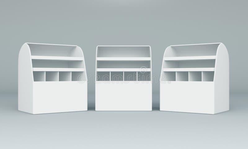 indicador da caixa 3D ilustração stock