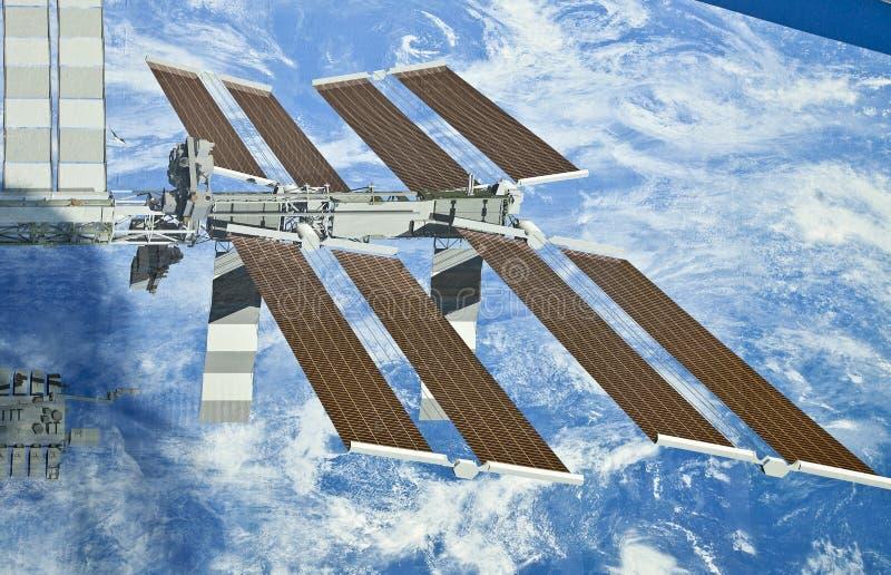Indicador da estação espacial internacional--Painéis solares foto de stock