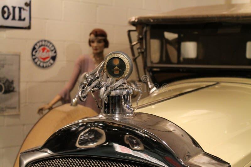 Indicador de agua americano clásico del coche imágenes de archivo libres de regalías