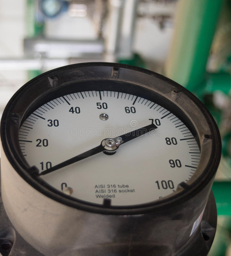 Indicador de alta presión fotografía de archivo
